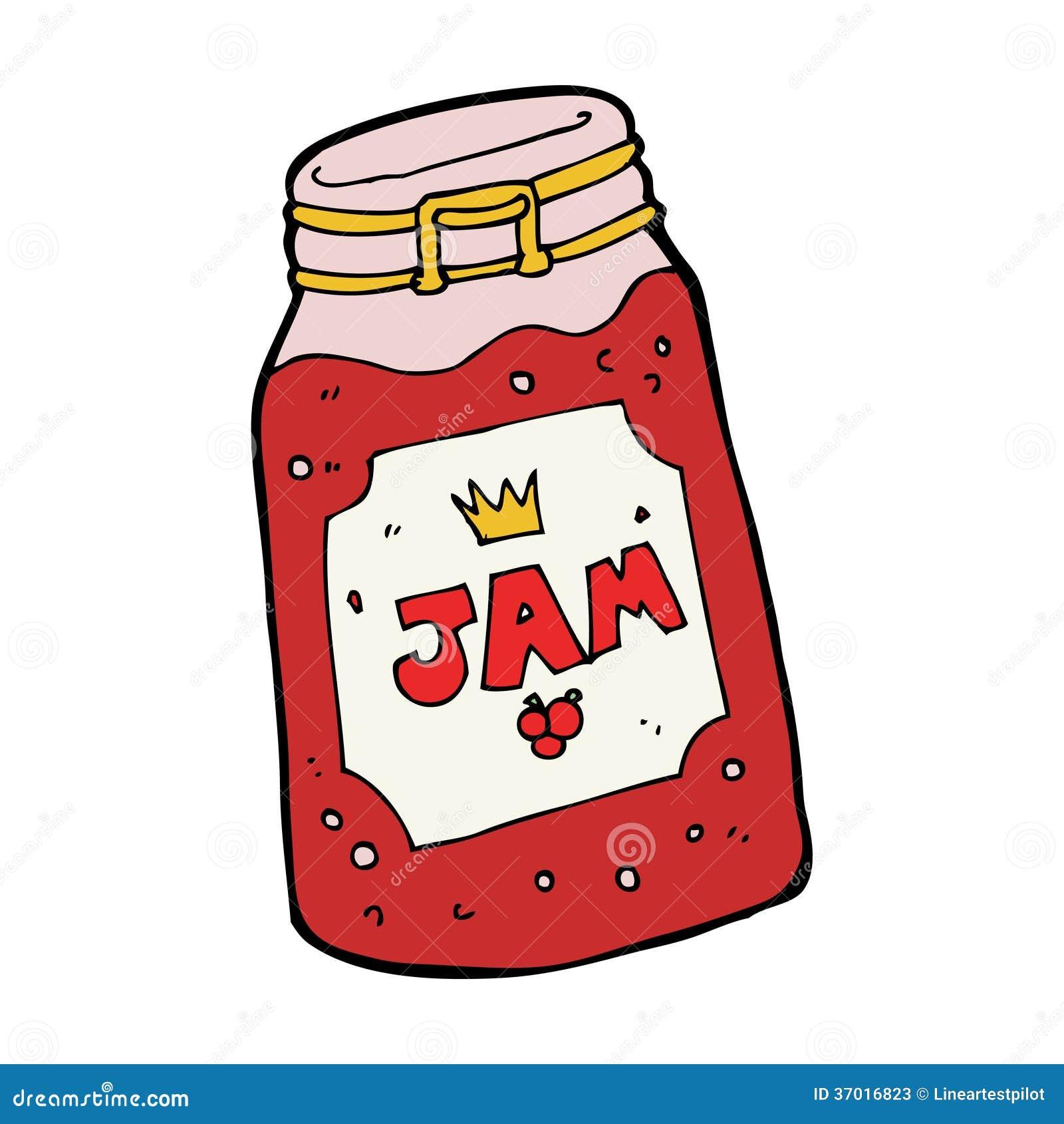 Cartoon Jar Of Jam Stock Photos Image 37016823