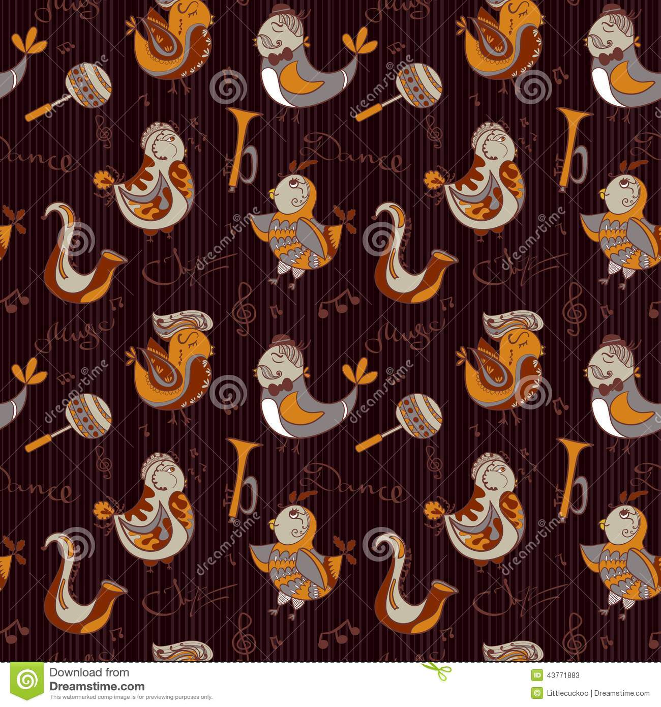 Cartoon jazz orchestra concept wallpaper birds sing and dancing cartoon jazz orchestra concept wallpaper birds sing and dancing seamless pattern can be used for wallpaper pattern fills web p voltagebd Image collections