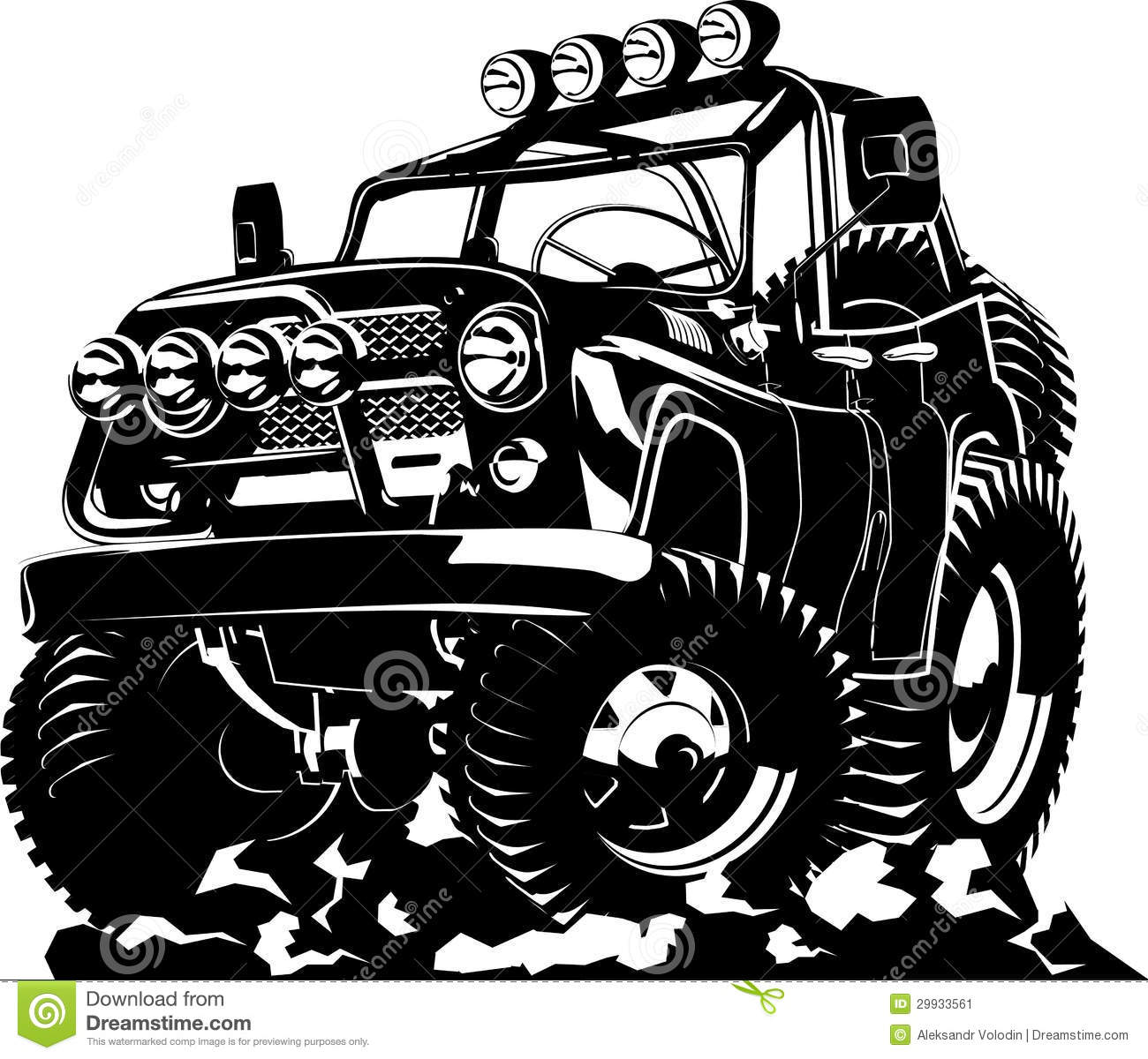 Cartoon Jeep Stock Image