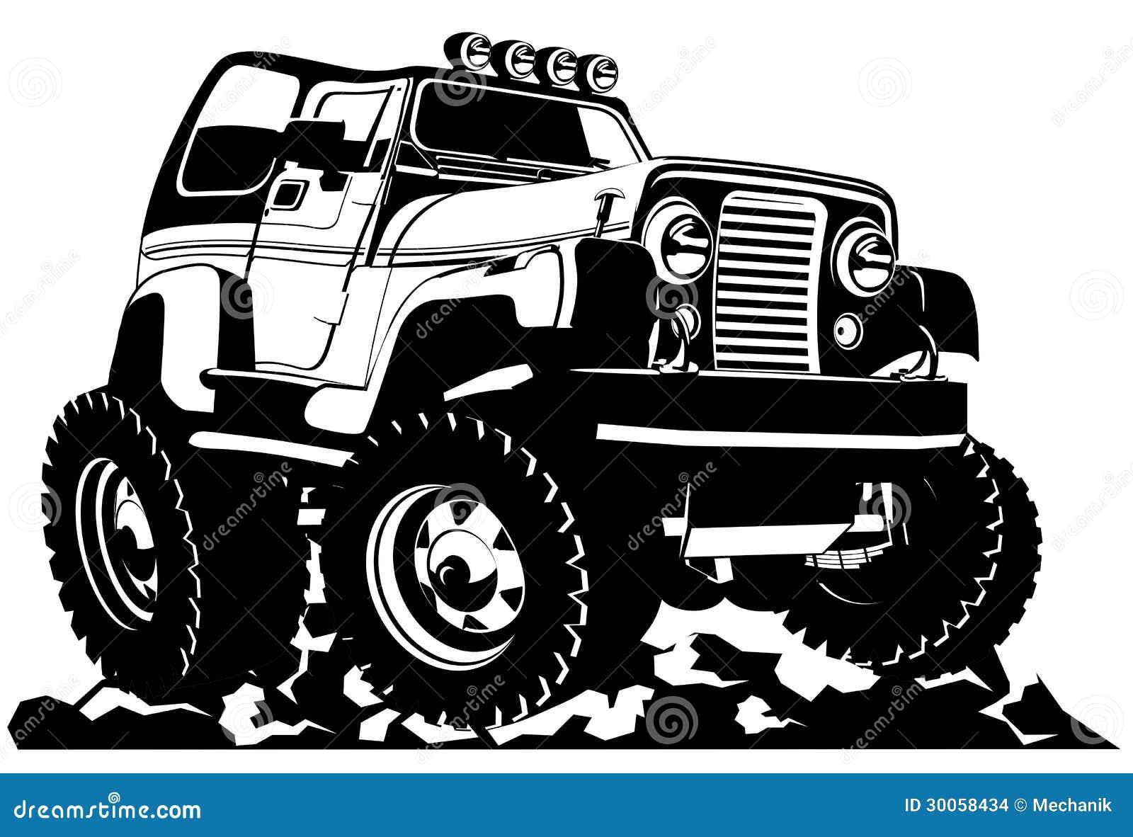 Jeep Hoodies Cartoon Jeep Stock Images - Image: 30058434