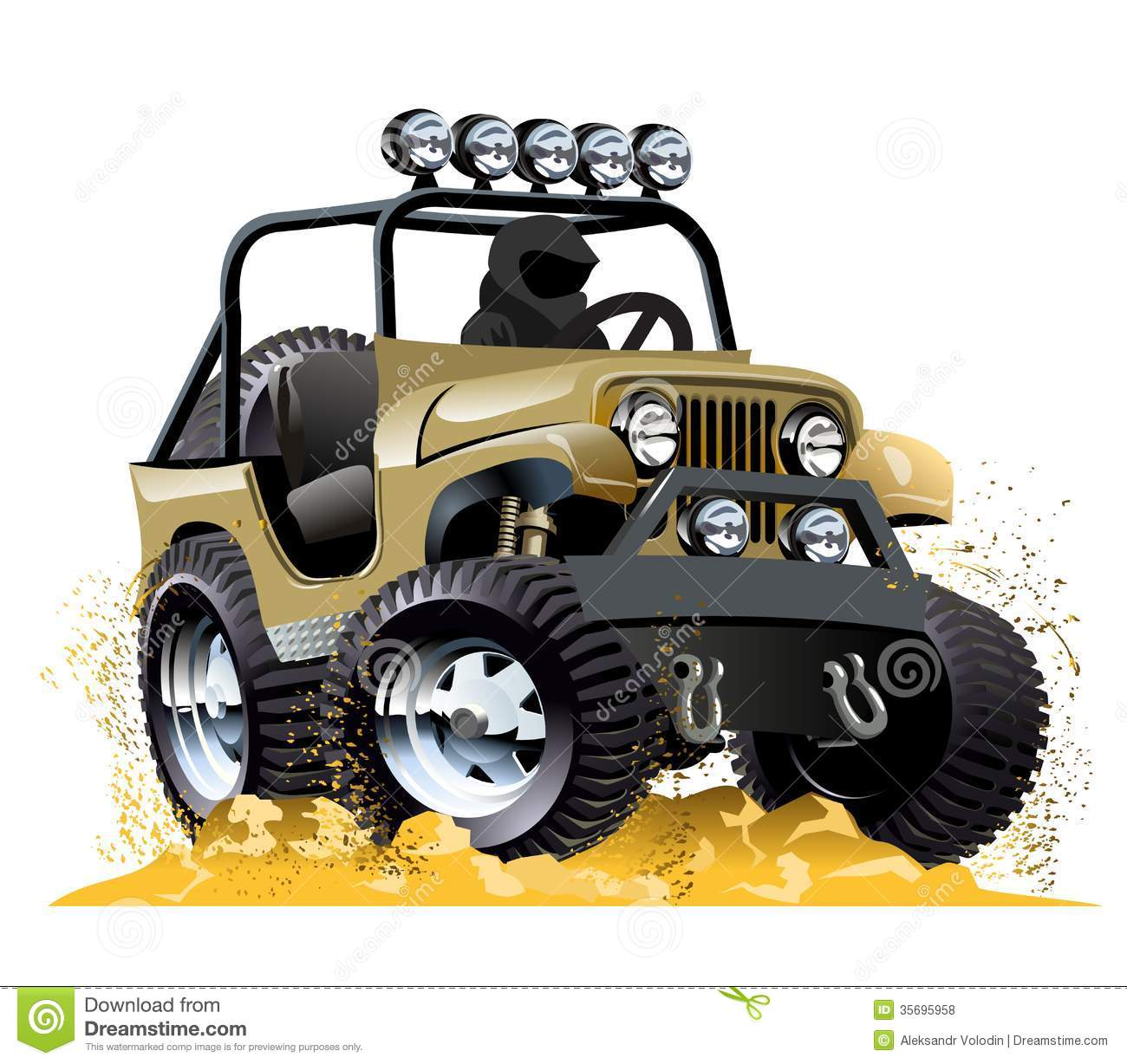 Cartoon jeep isolated on white background. Available EPS-10 vector ...