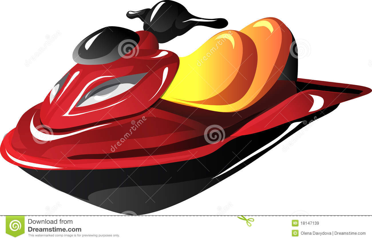 Cartoon Jet Ski Royalty Free Stock Images - Image: 18147139