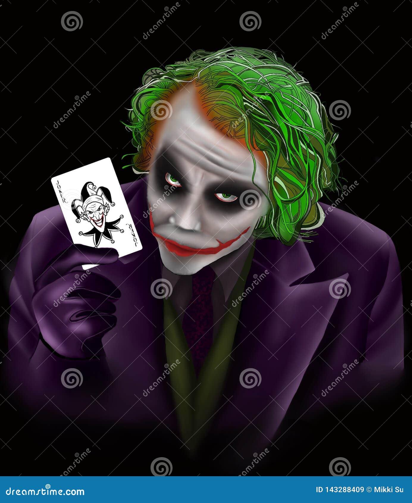 Halloween Joker Card.Cartoon Joker From Ds Editorial Stock Image Illustration Of Dark