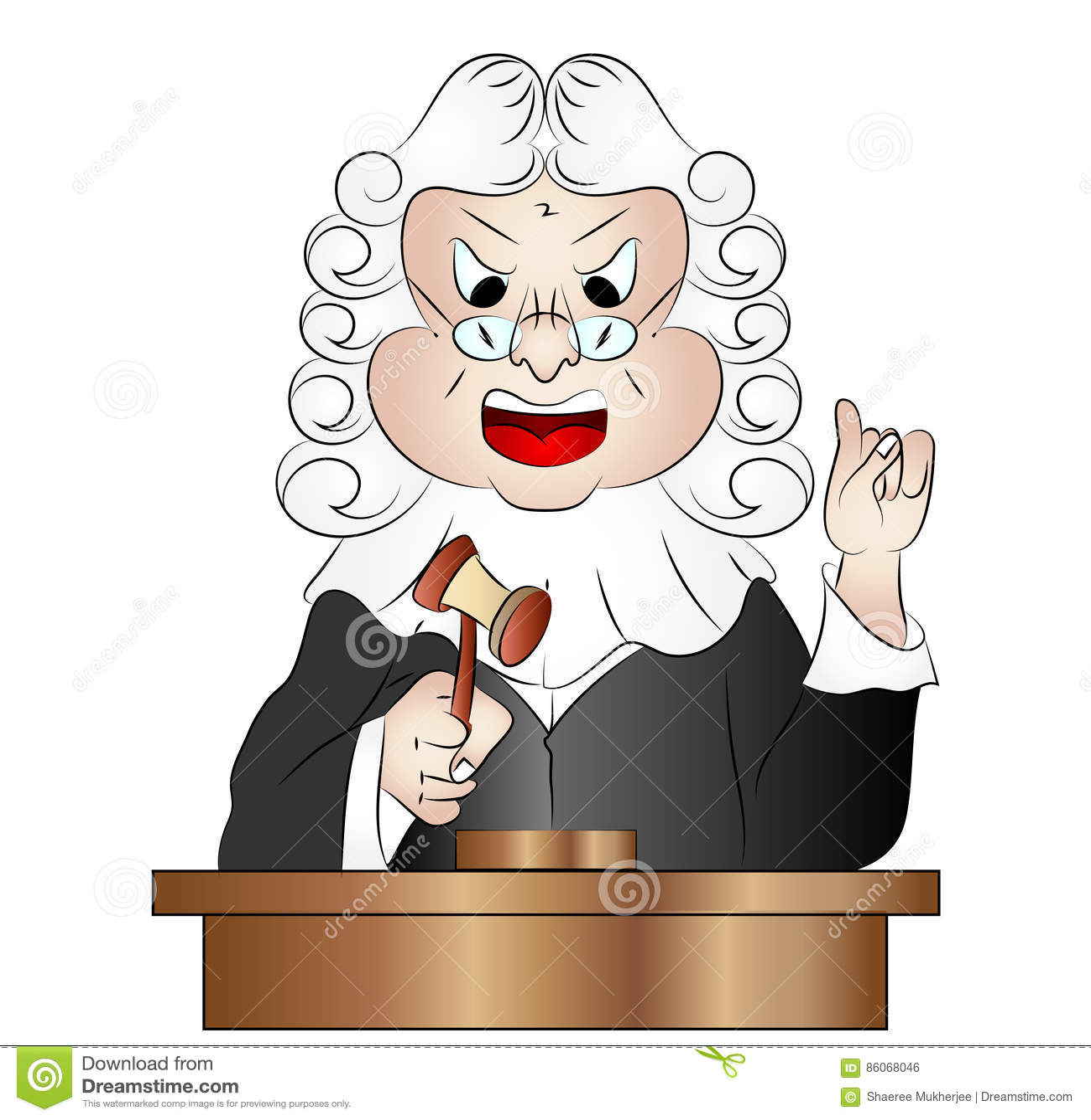Cartoon Judge Vector Illustration Stock Vector Illustration Of