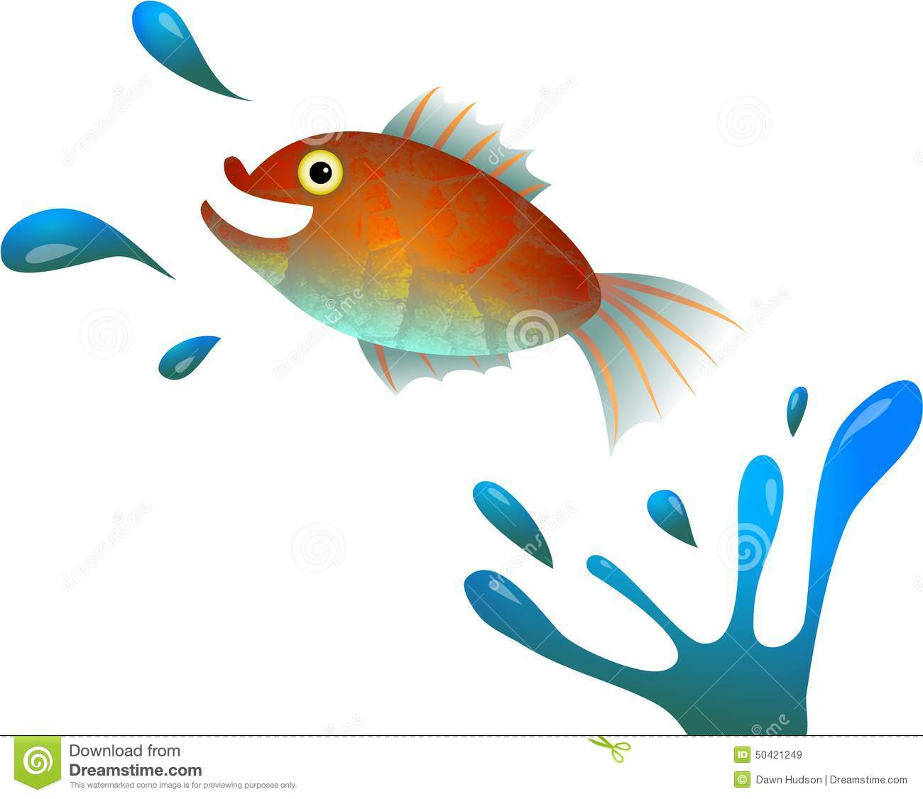 Cartoon fish jumping out of water clipart - photo#8