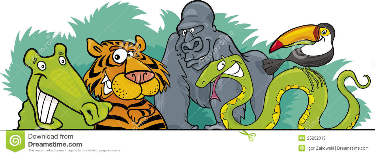 ... Jungle Wild Animals Design Royalty Free Stock Images - Image: 25232019