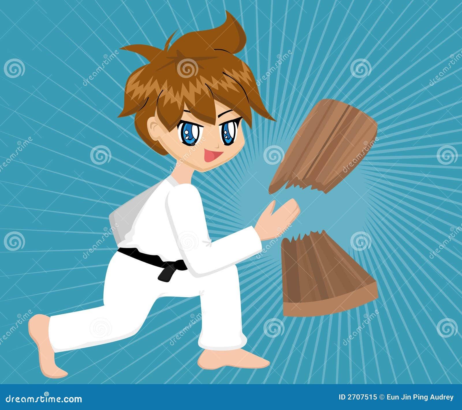Cartoon Karate BoyBlack Karate Cartoon