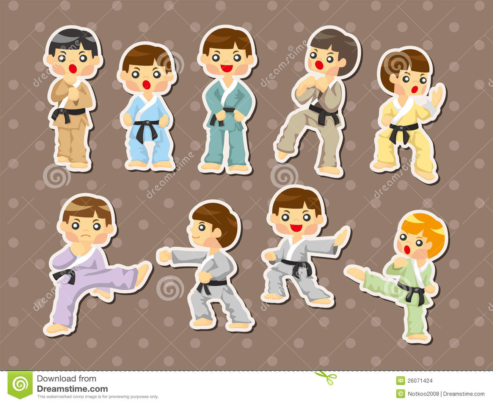 Martial Arts Karate Stance Sticker