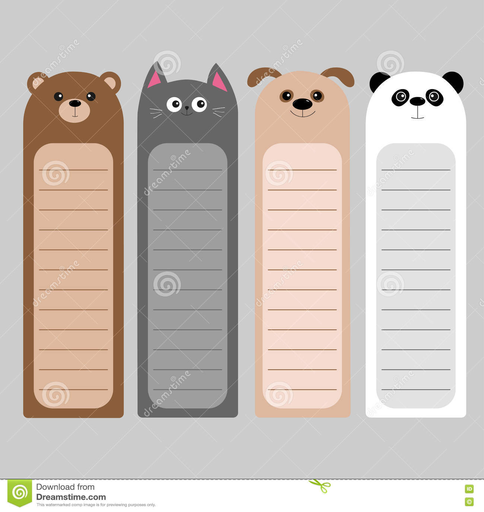 Cartoon Kawaii Baby Bear Cat Dog Panda Animal Head Set