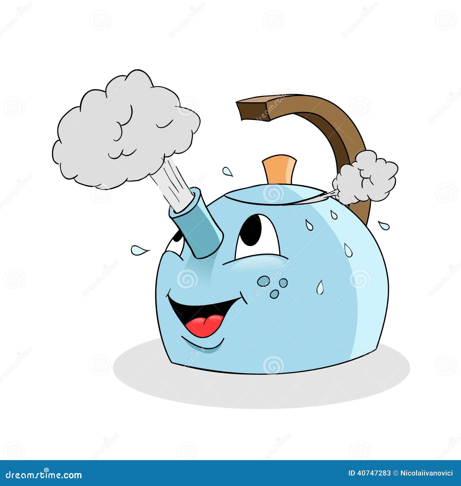Kettle Steam Clipart Cartoon kettle
