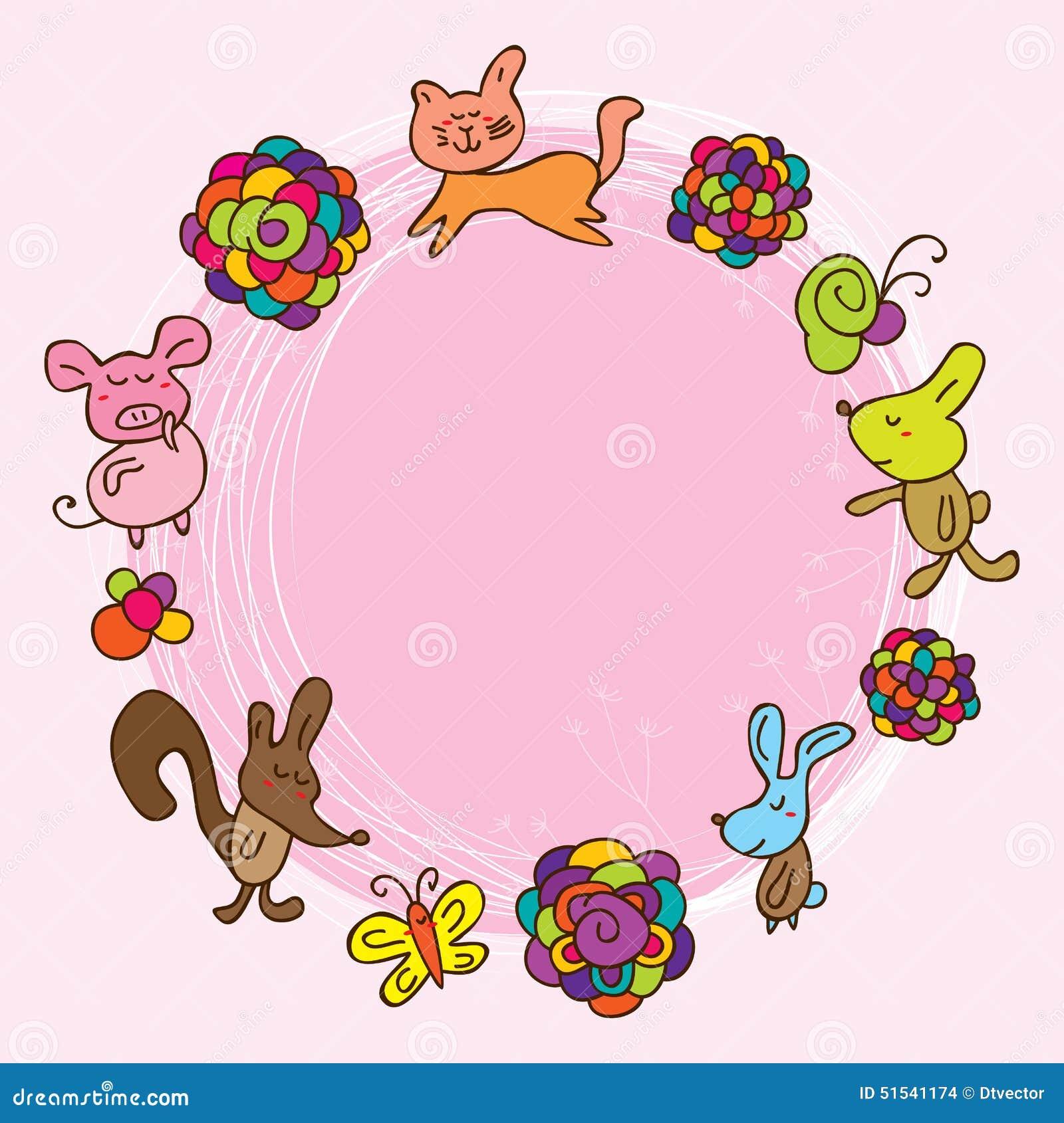 Cartoon kid flower pink flower card stock vector illustration of download cartoon kid flower pink flower card stock vector illustration of color cute mightylinksfo
