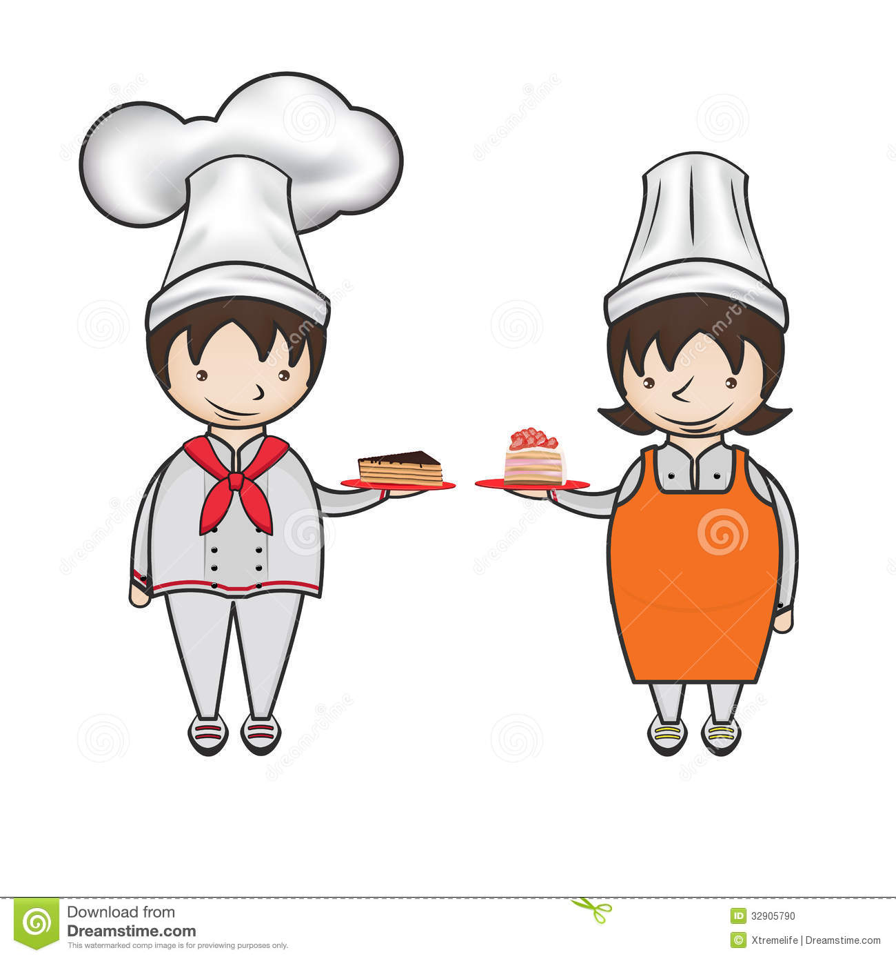 Flora (OR) United States  City new picture : Cartoon Kid Patissier Stock Photo Image: 32905790