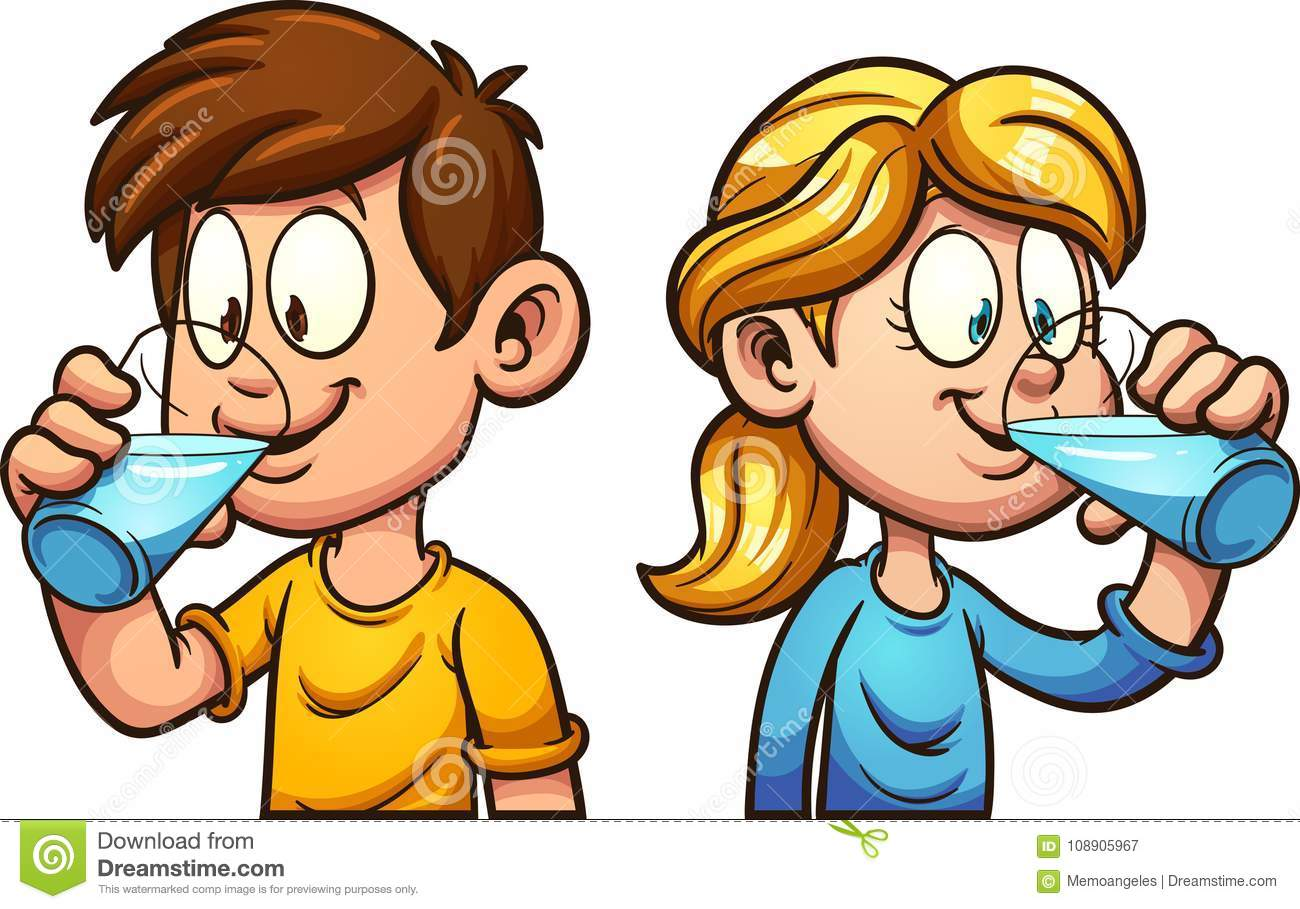 cartoon kids drinking water stock vector illustration of drinking rh dreamstime com drinking clip art pics drinking clipart black and white
