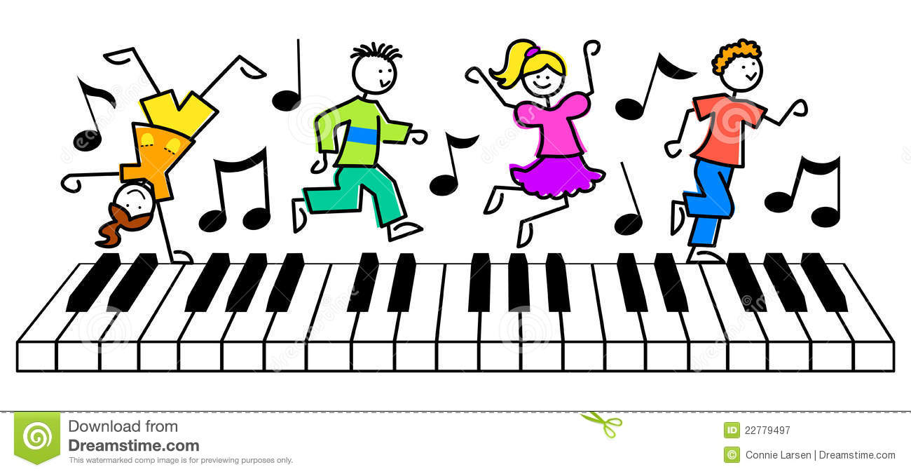 Cartoon Kids Music Keyboard/eps Royalty Free Stock Photography ...