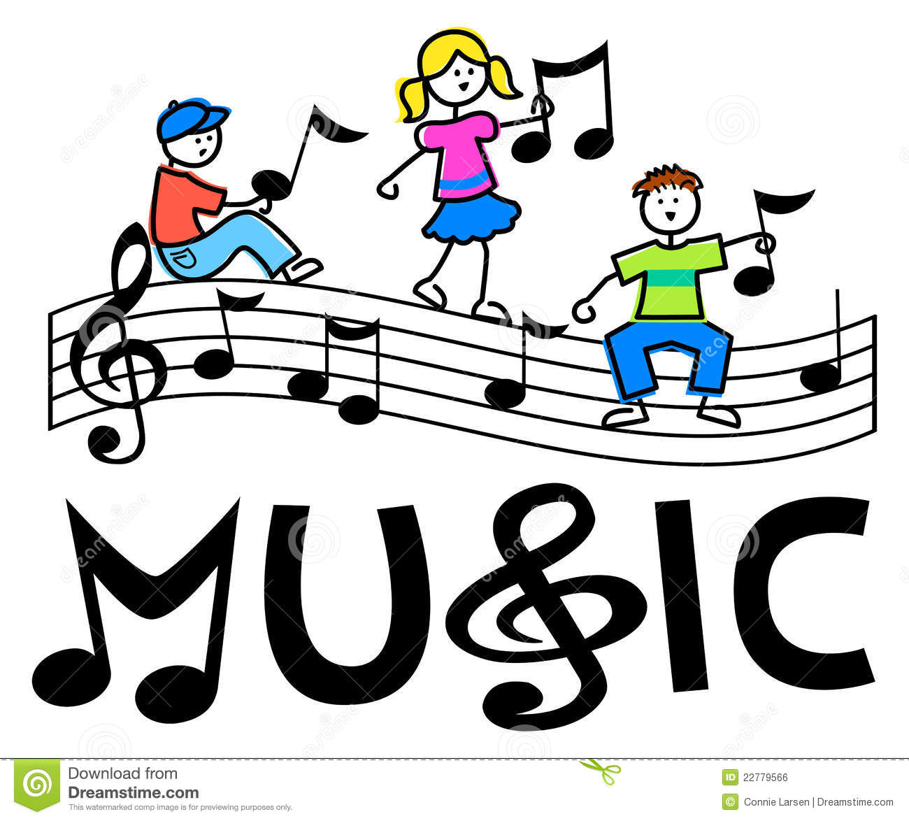 Cartoon Kids Musical Bar/eps Royalty Free Stock Image - Image ...