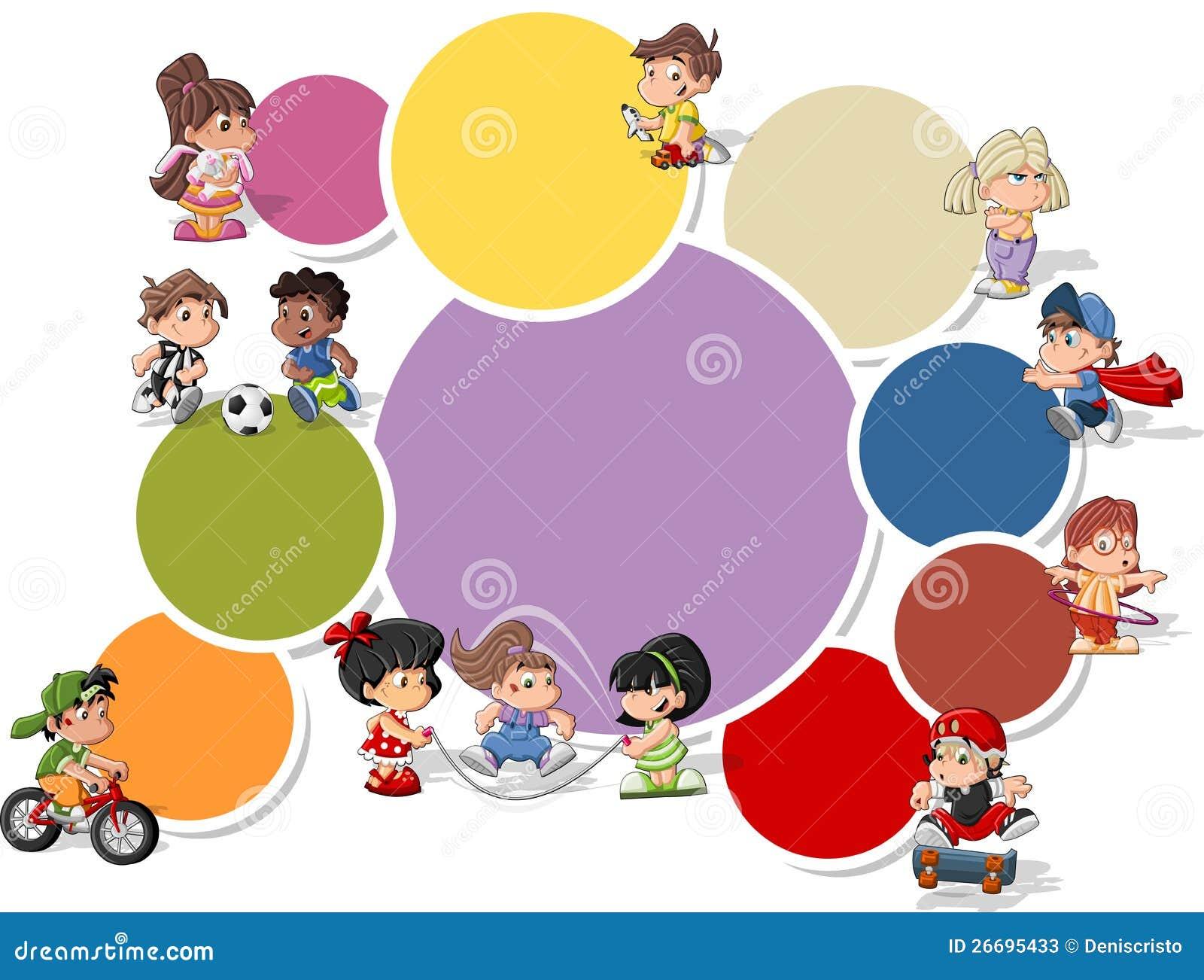 Cartoon Kids Playing Stock Vector Illustration Of Play 26695433