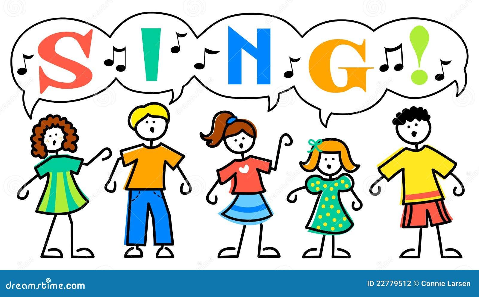 Uncategorized Musical Cartoons cartoon kids sing musiceps stock vector image 22779512 royalty free photo