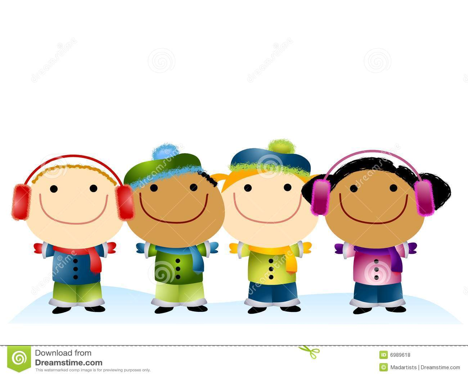 cartoon dressed hats illustration kids - Free Cartoon Download For Kids