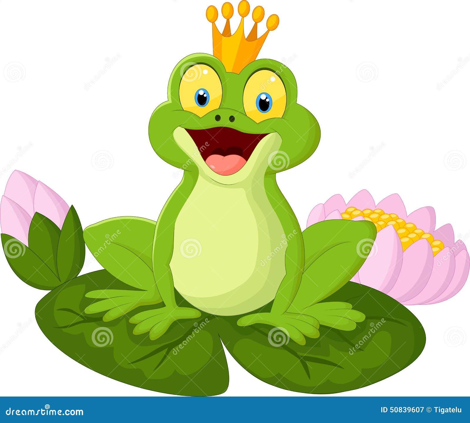 cartoon king frog stock vector image 50839607 cute baby frog clipart Cartoon Frog Clip Art