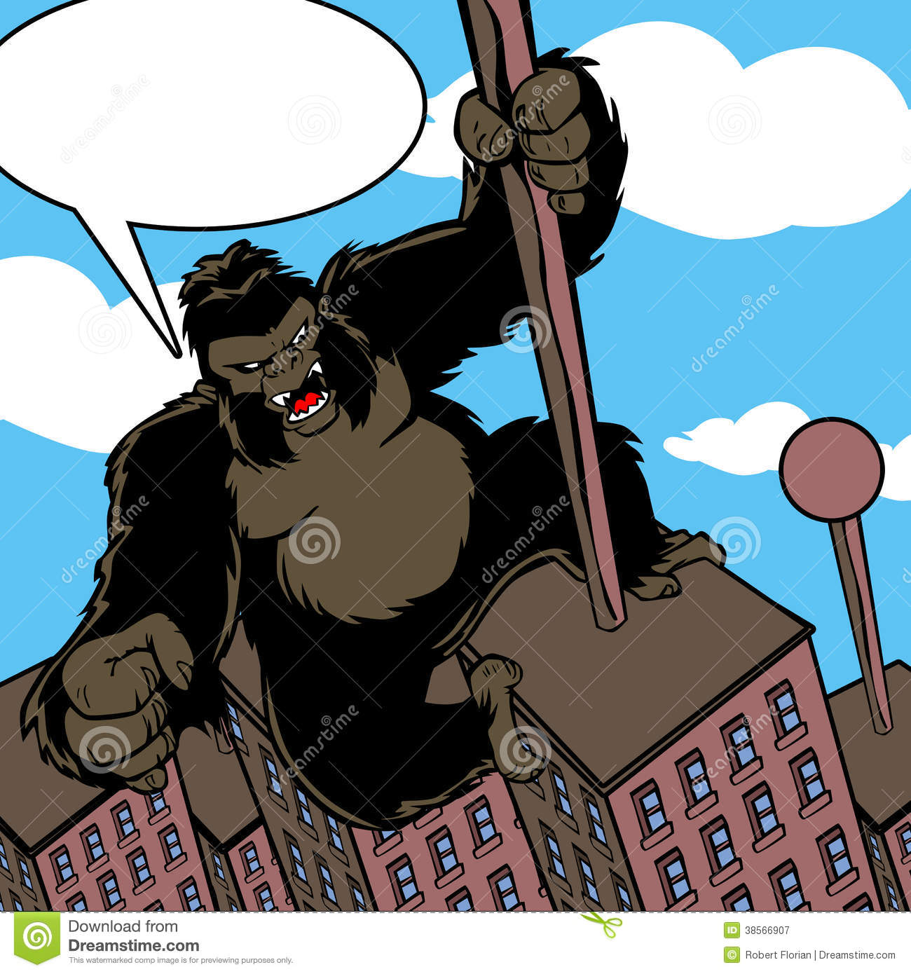 Royalty Free Stock Photography: Cartoon King Kong with ...