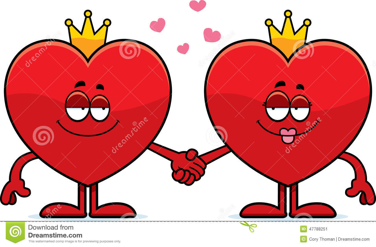 Cartoon King And Queen Of Hearts Stock Vector - Image ...