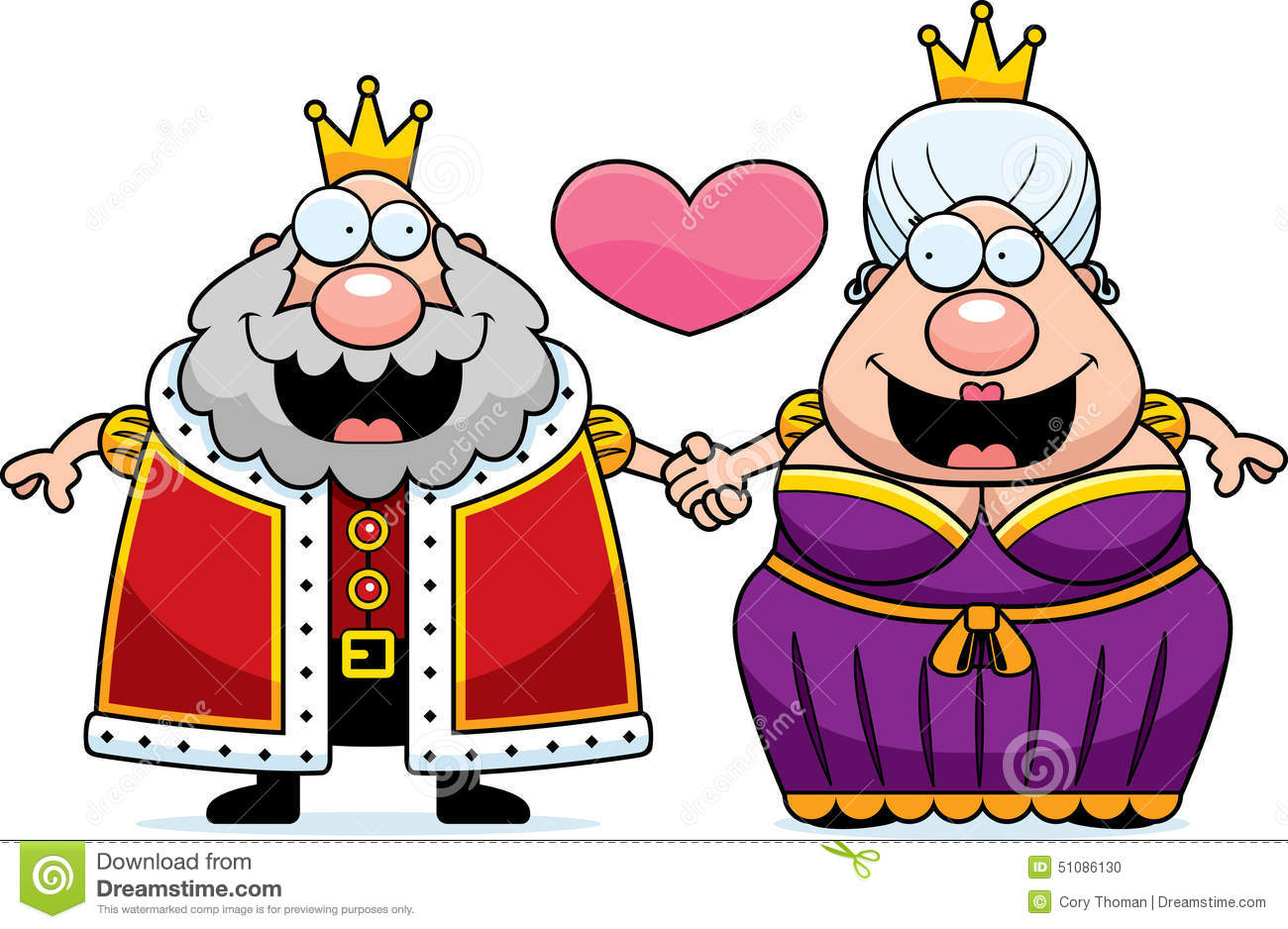 cartoon king and queen love stock vector illustration of standing rh dreamstime com prom king and queen clipart king and queen clipart black and white