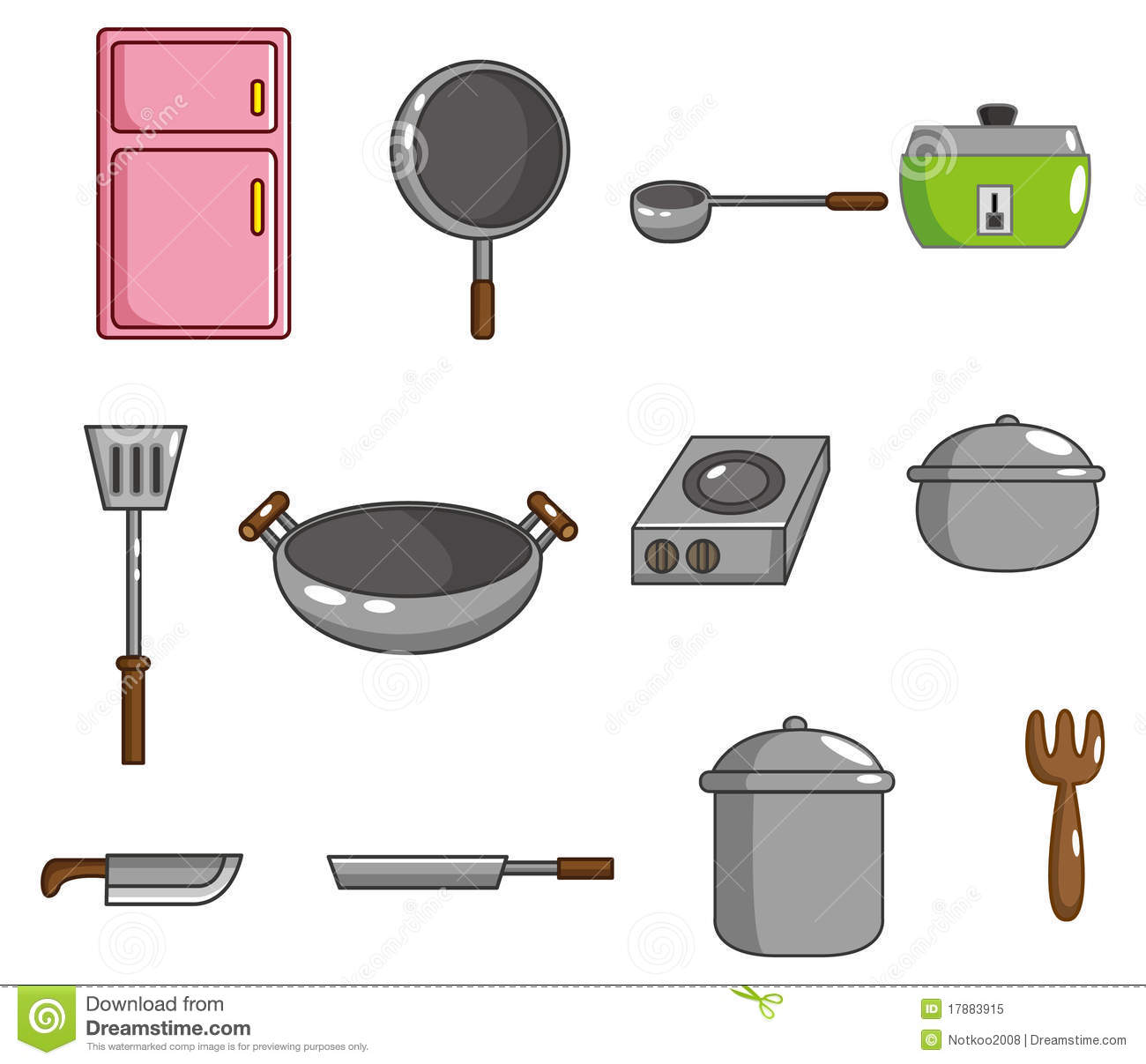 Cartoon Kitchen Tool Icon Stock Illustration. Image Of
