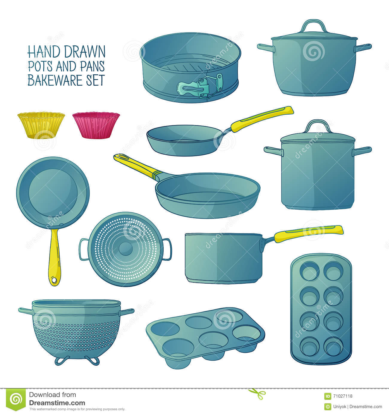 Cartoon Home Kitchen Pan stock vector. Illustration of illustration ...