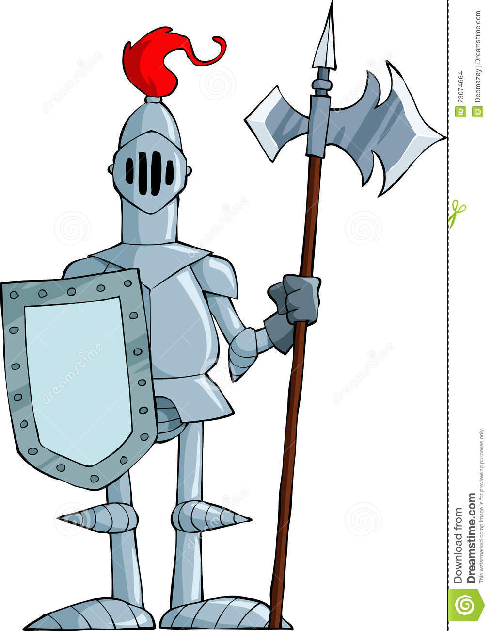 Cartoon knight stock vector. Illustration of knight, guard ...