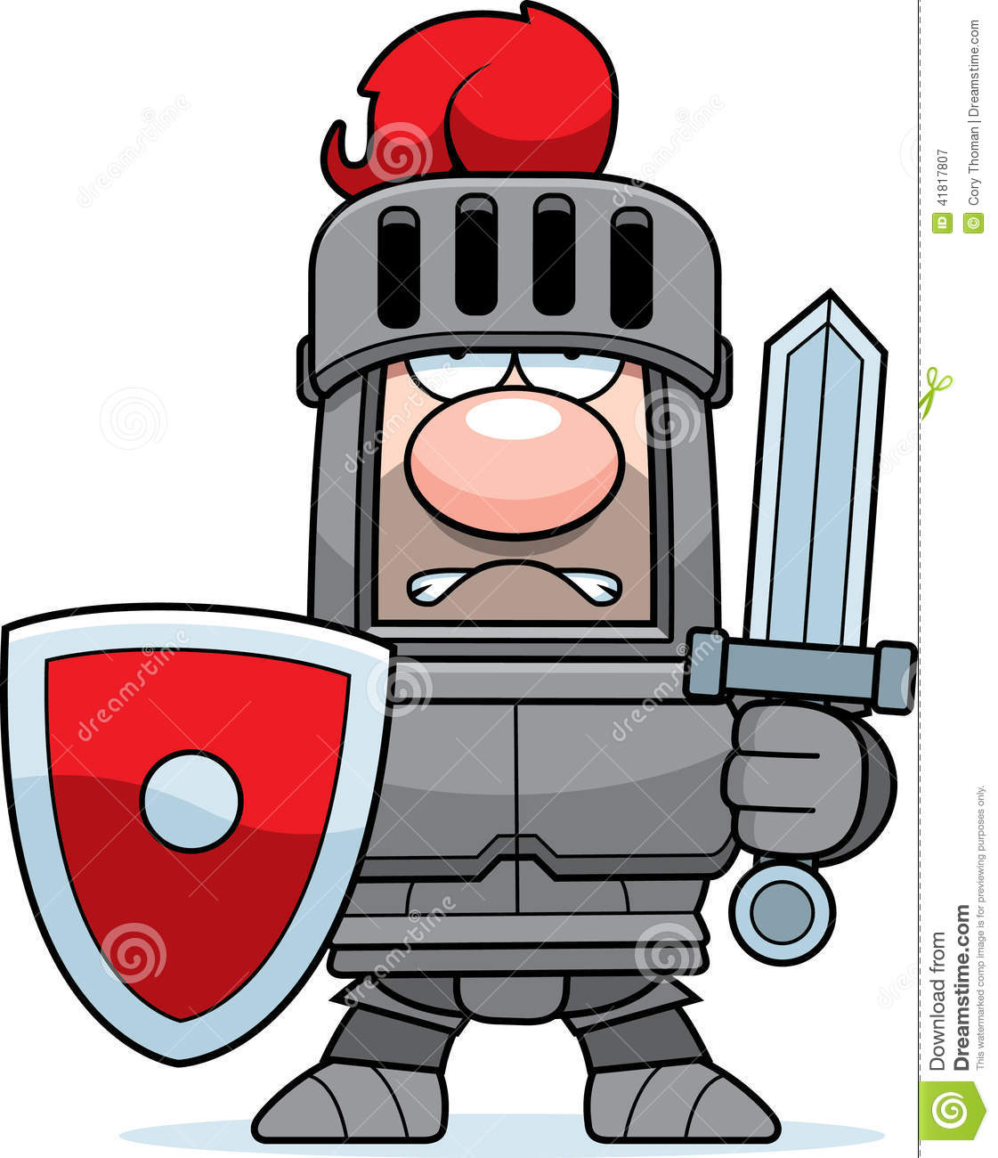Cartoon Knight In Armor Stock Vector - Image: 41817807