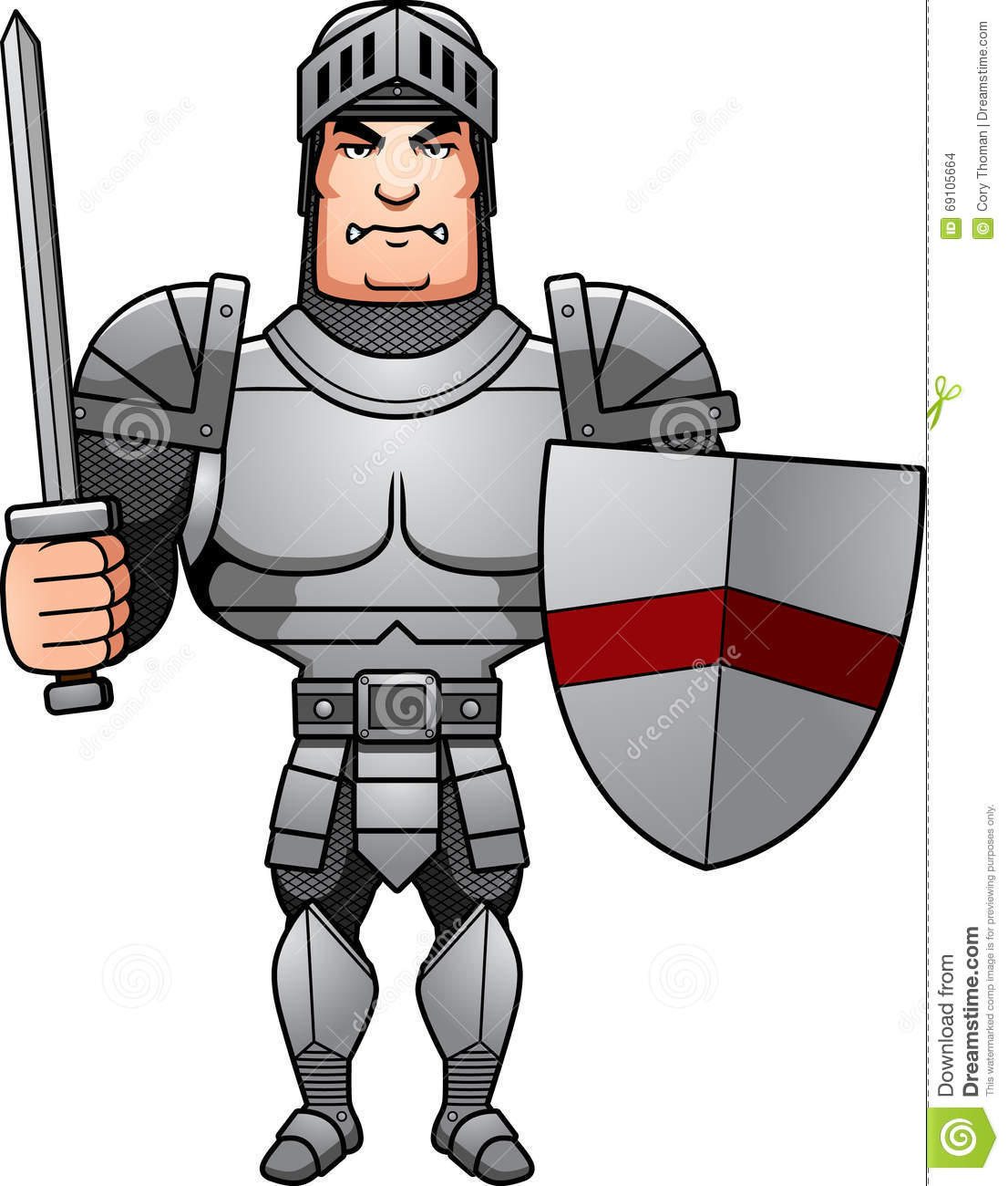 Cartoon Knight Battle stock vector. Illustration of battle ...