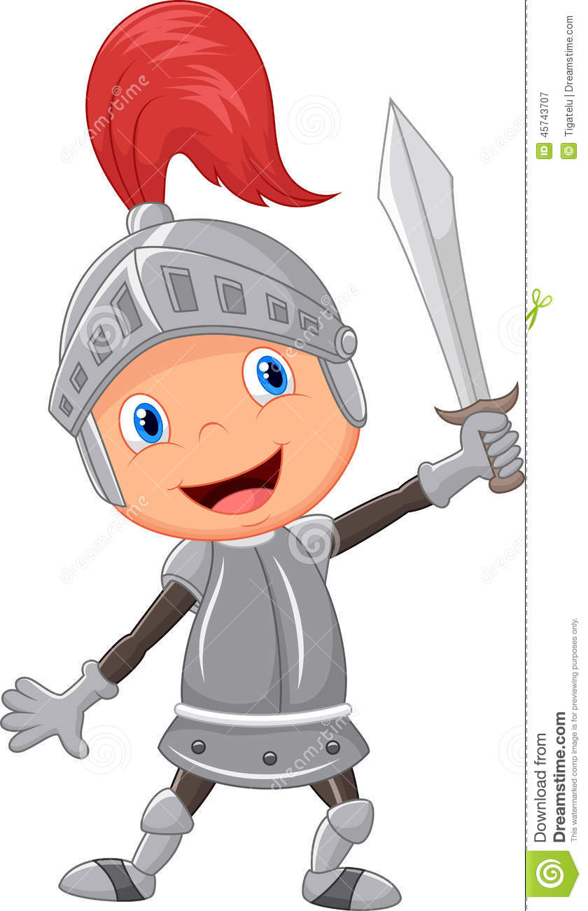 Cartoon Knight Boy Stock Vector - Image: 45743707