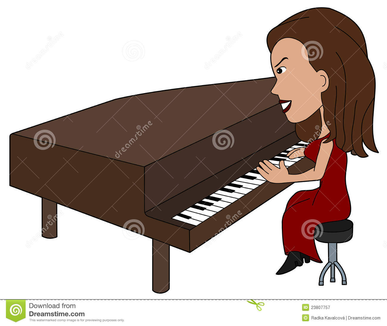 clipart girl playing piano - photo #35