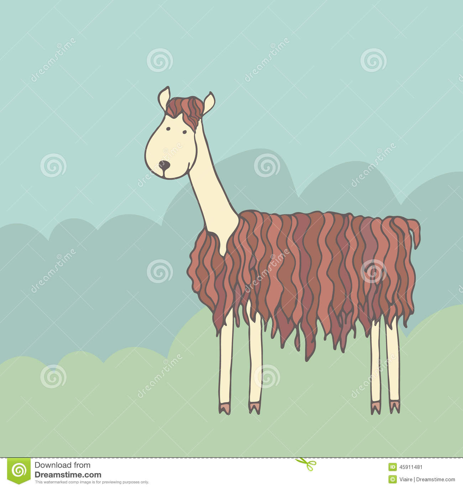 alpaca clipart