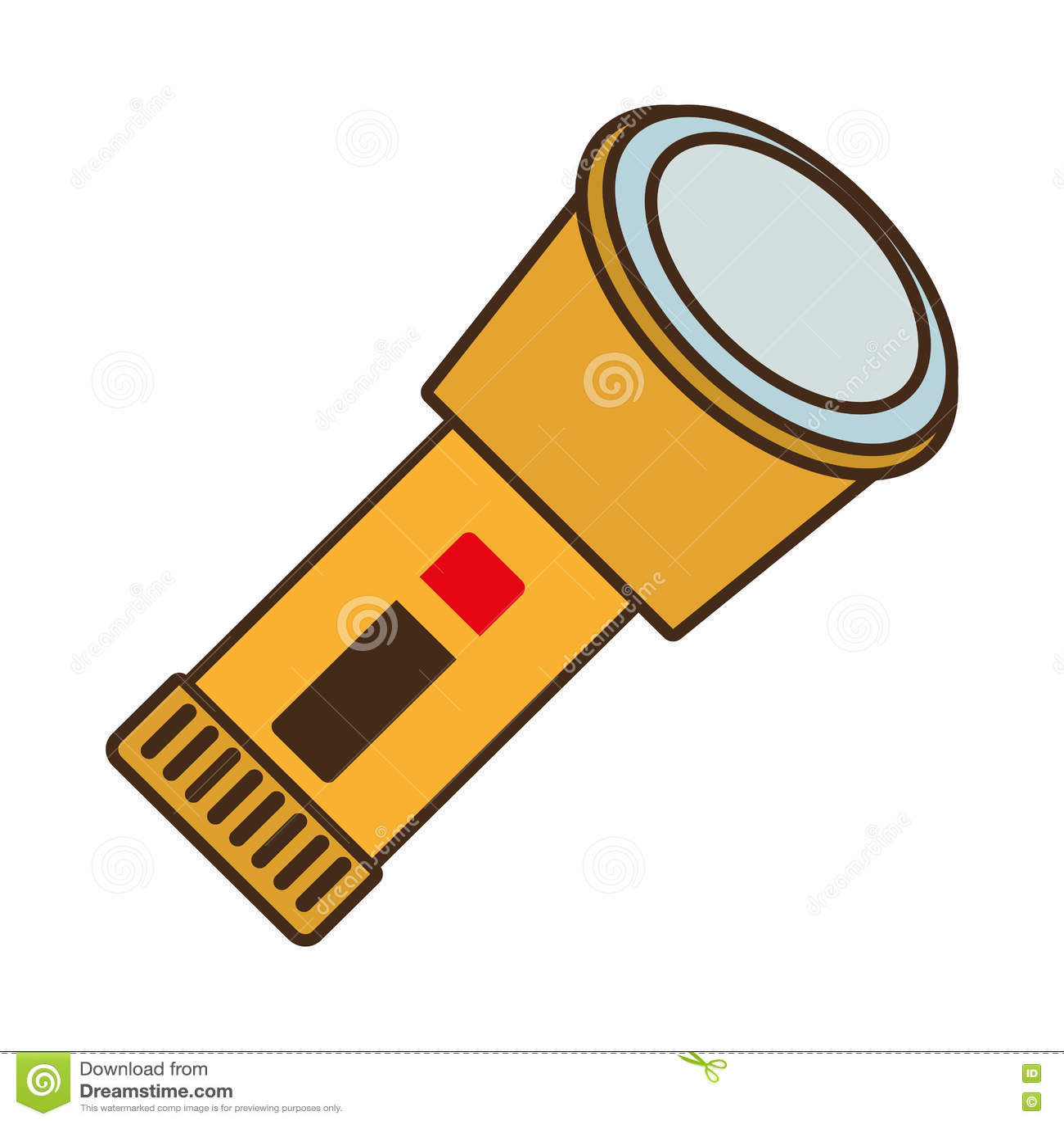 Cartoon Lantern Light Security Protective Work Design Stock