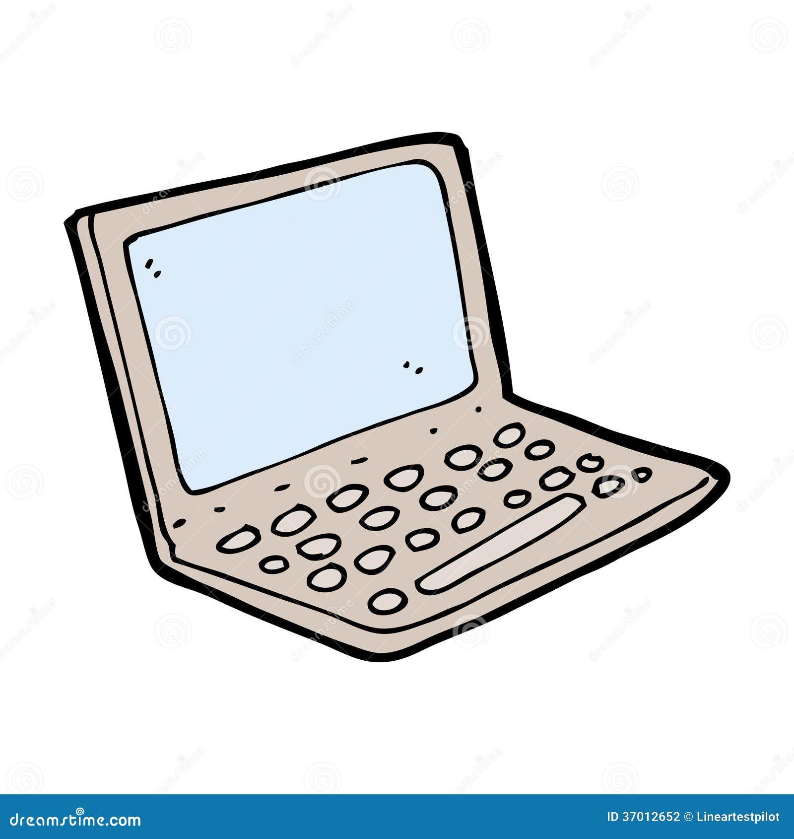 Cartoon Laptop Computer Stock Photography Image 37012652