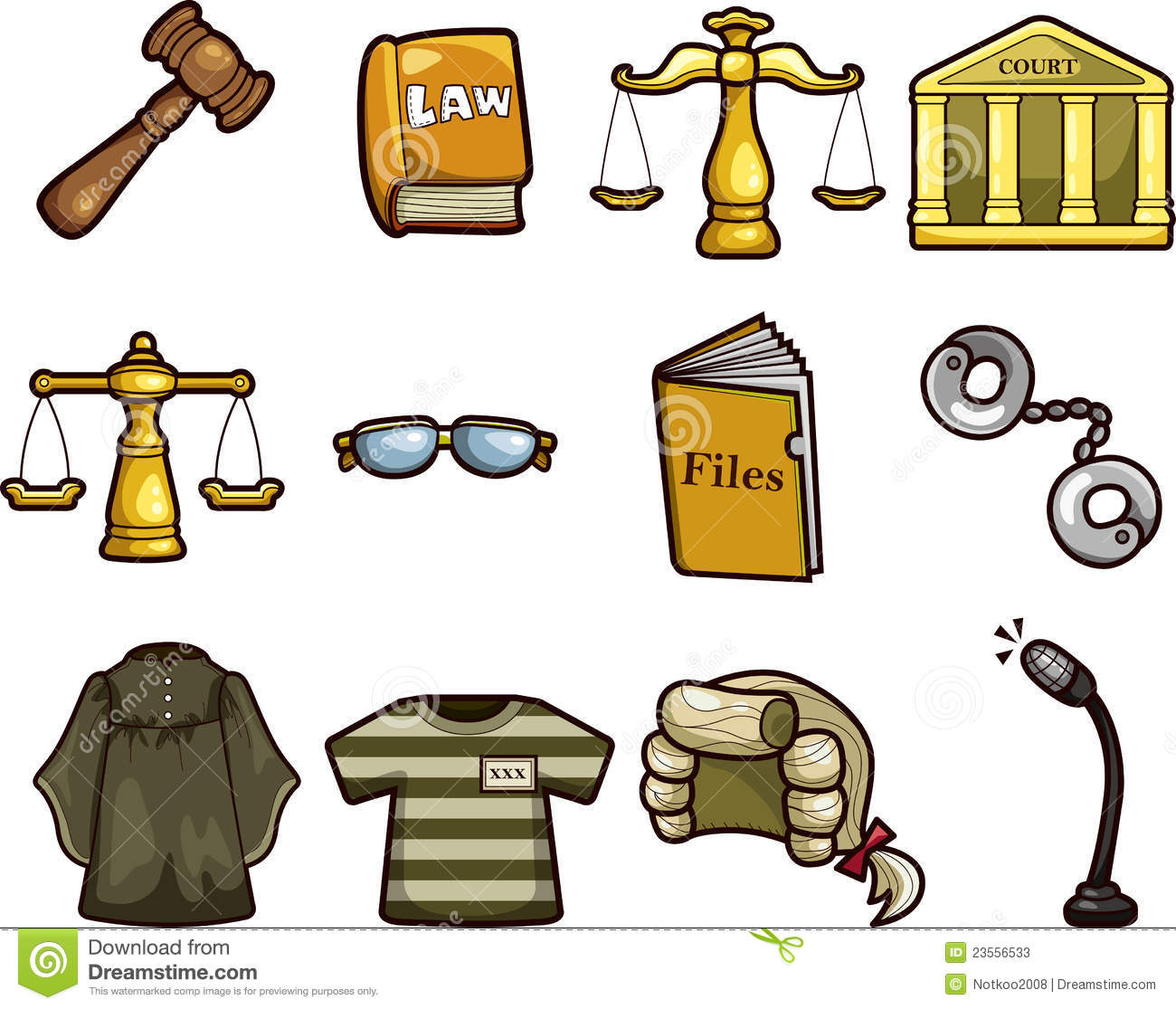Cartoon Law Icons Stock Photos - Image: 23556533