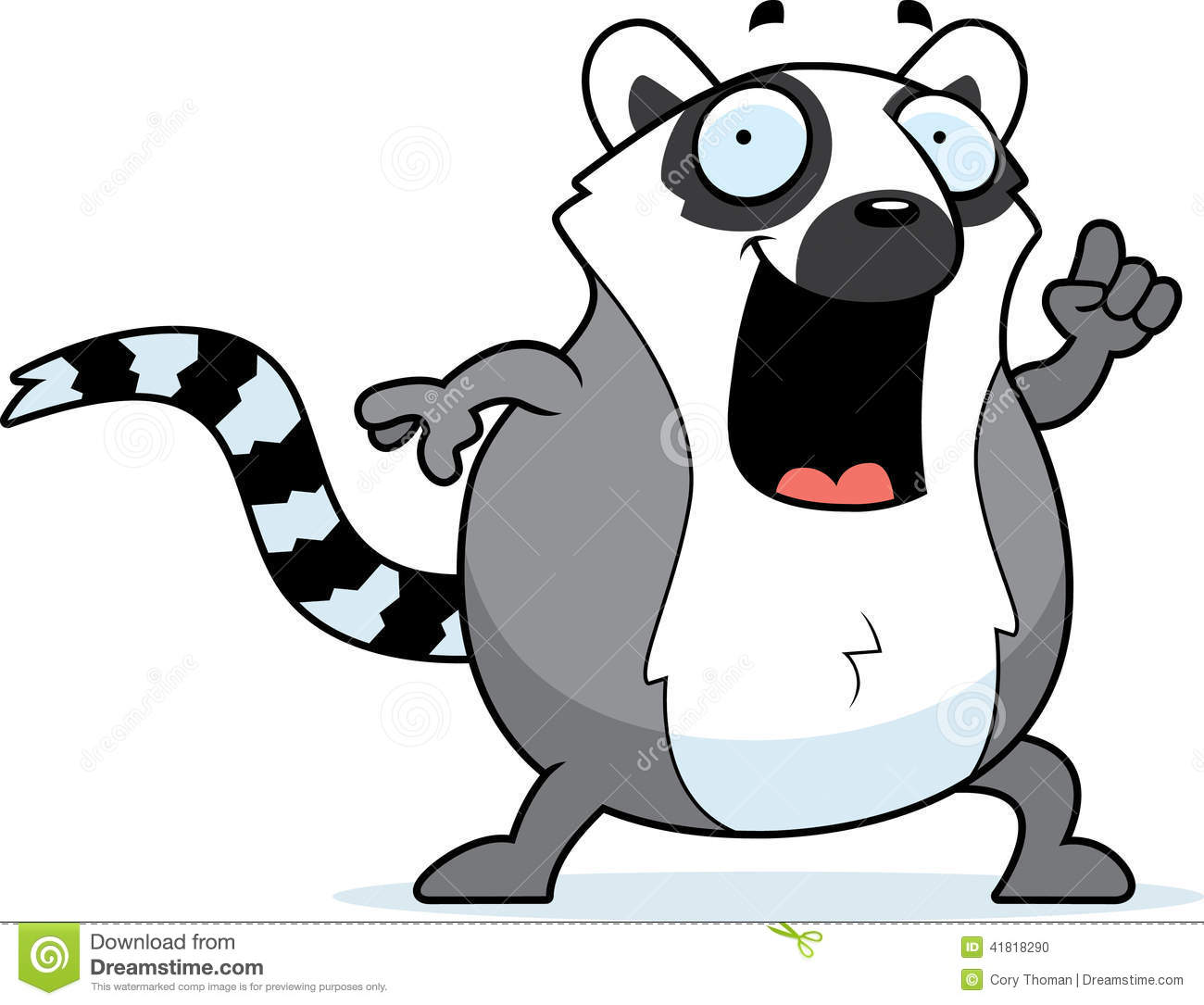 Cartoon Lemur Idea Stock Vector - Image: 41818290