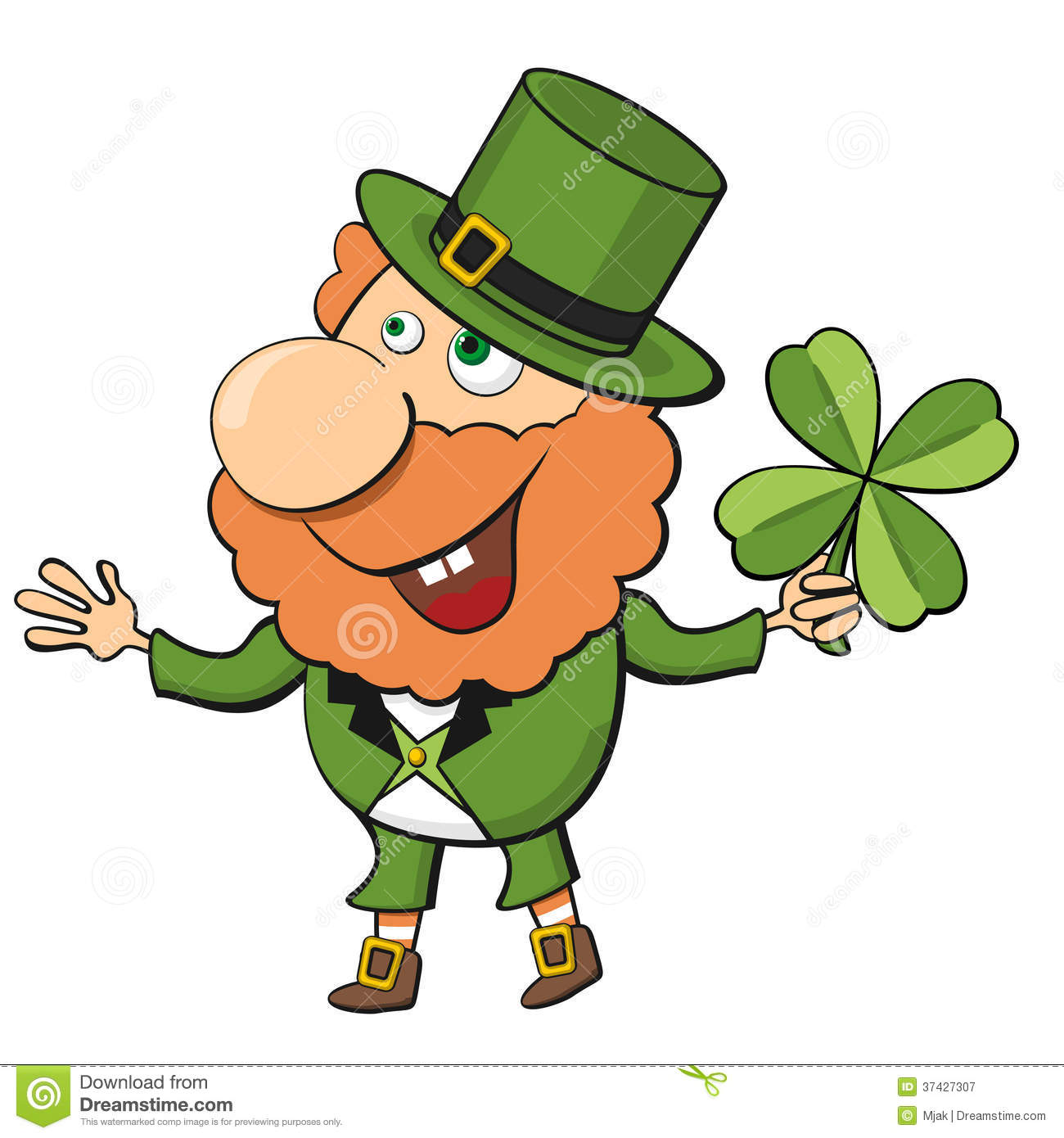 cartoon leprechaun royalty free stock photography image 37427307