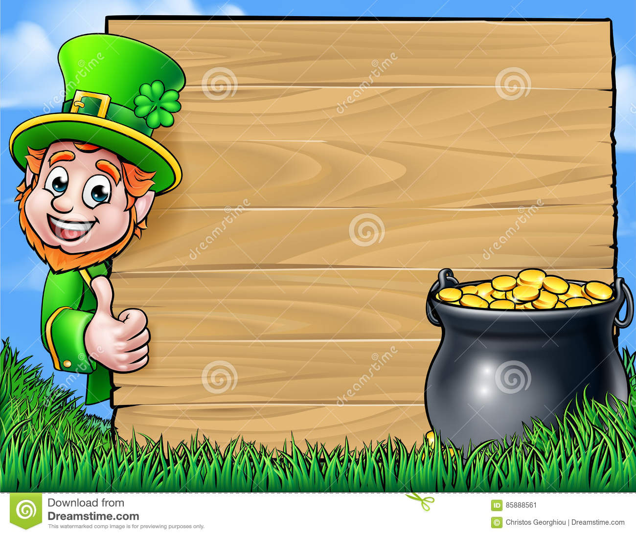 Uncategorized Leprechaun Background cartoon leprechaun st patricks day background sign stock vector royalty free download background