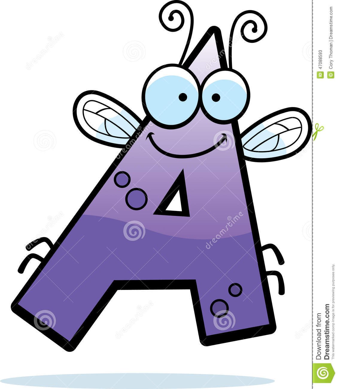 Cartoon Characters 9 Letters : Cartoon letter a bug stock vector illustration of clip