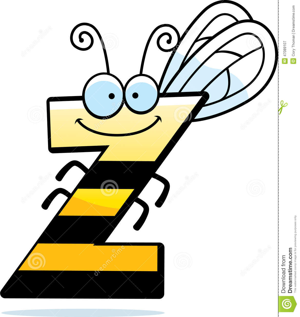 cartoon letter z bug stock vector. illustration of clipart - 47089107