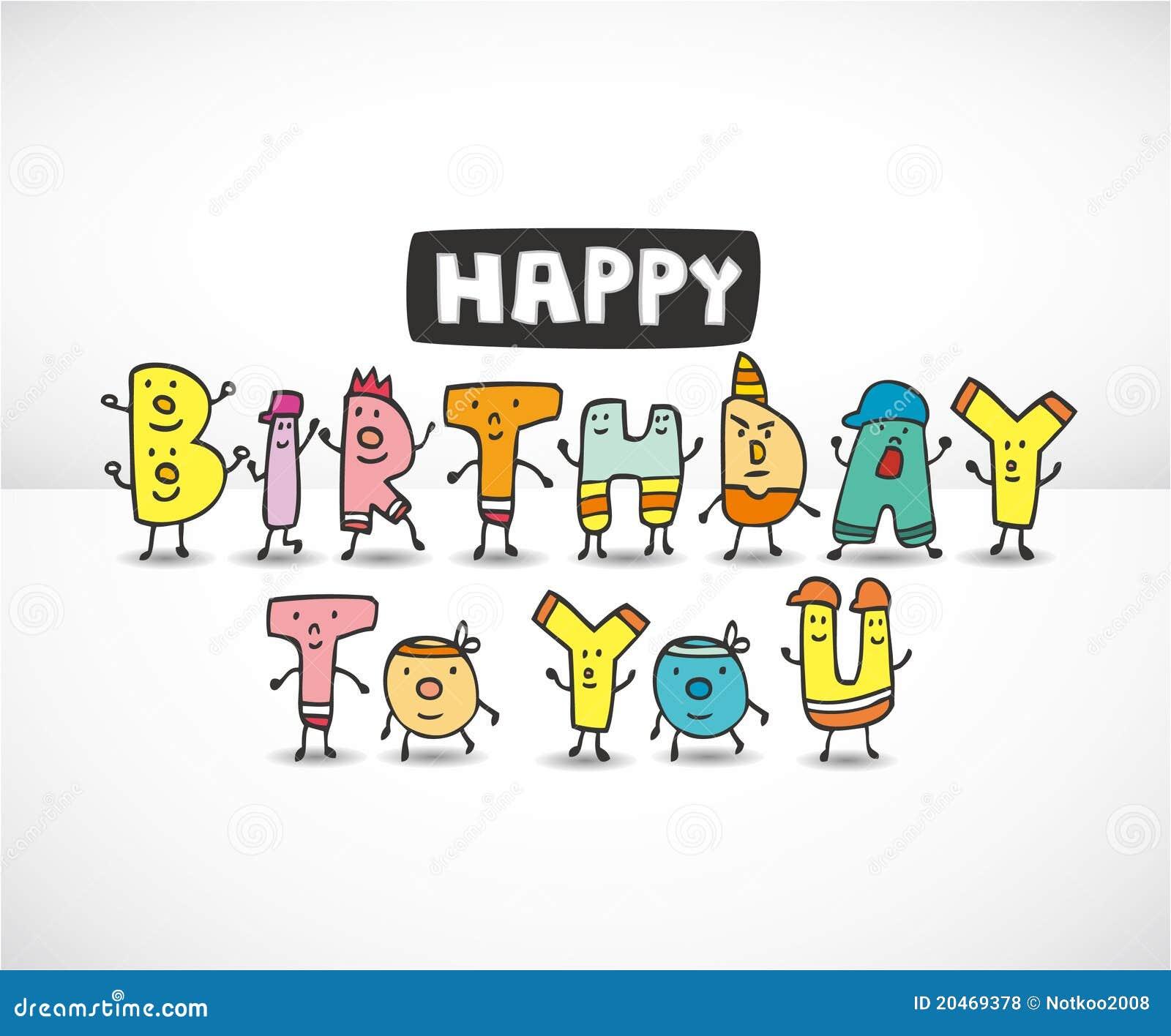 cartoon letters birthday card royalty free stock photos   image