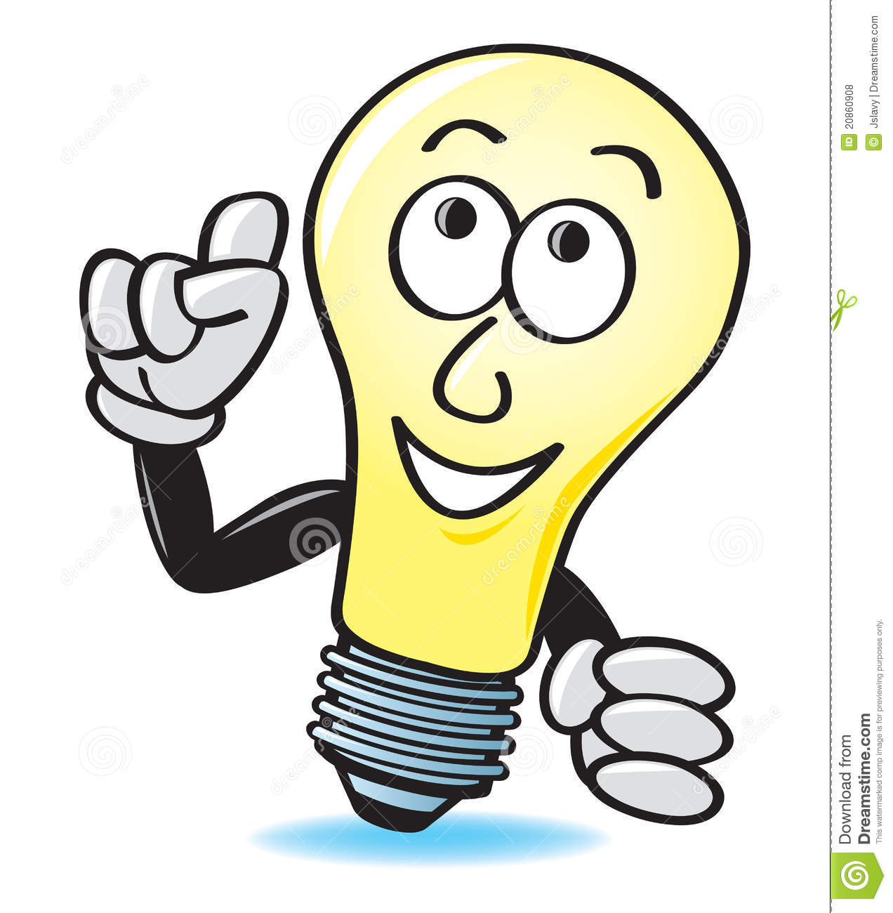 Cartoon Light Bulb http://www.dreamstime.com/royalty-free-stock-photos-cartoon-light-bulb-image20860908