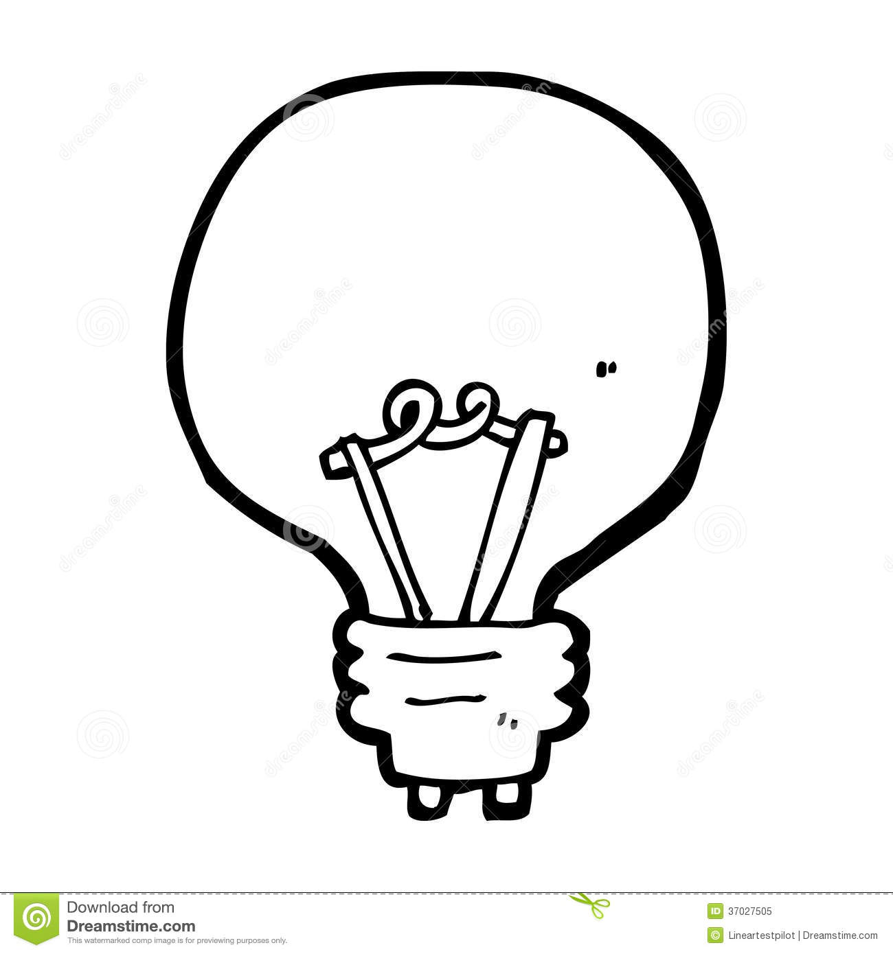 Download Cartoon Light Bulb Stock Illustration Of Simple