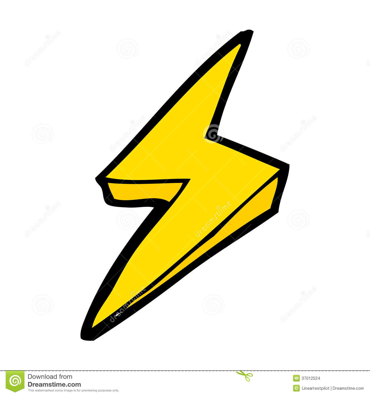 Cartoon Lightning Bolt Symbol Stock Vector - Illustration of ... for Vector Lighting Bolt  55dqh