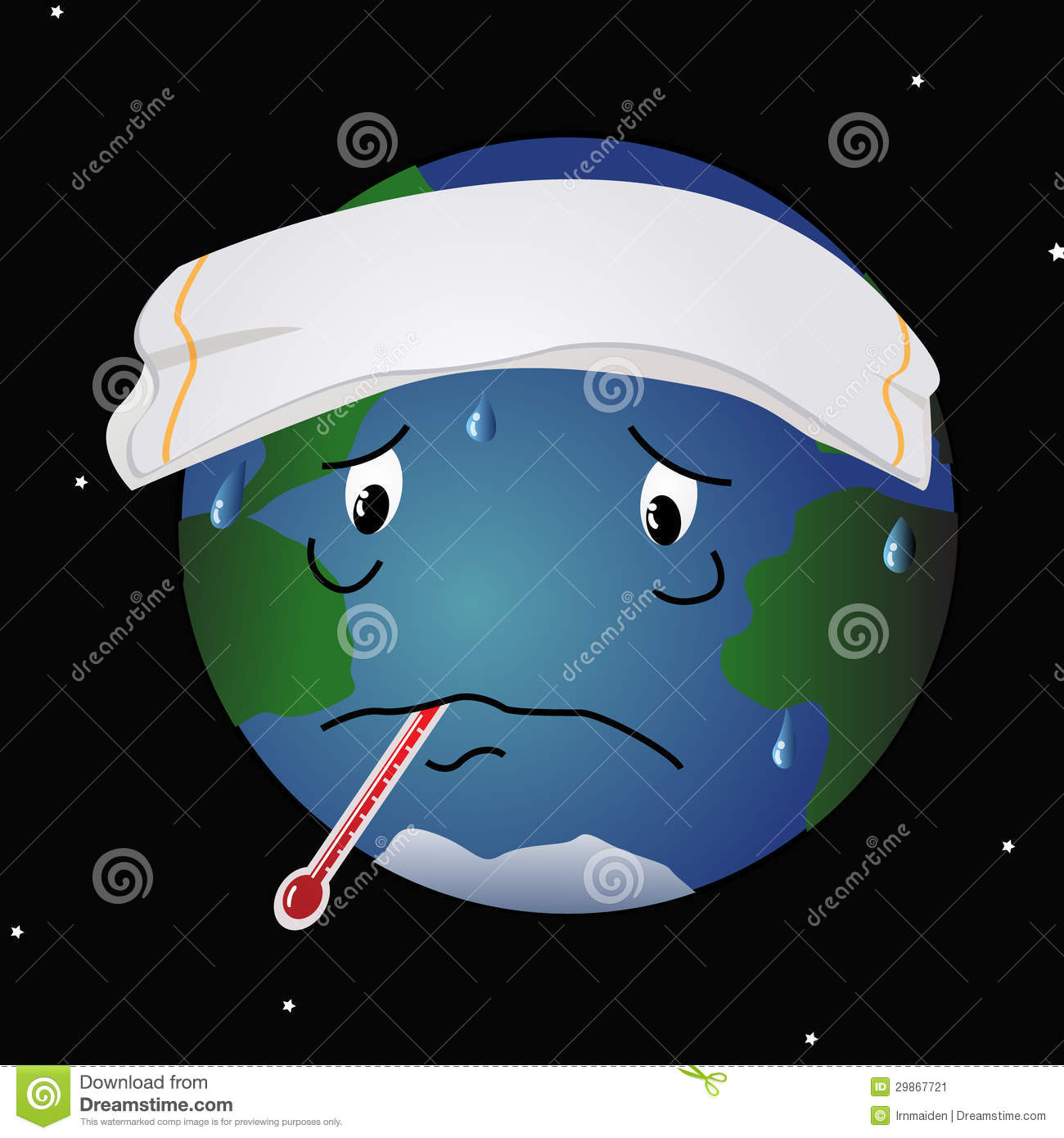 Sick Planet Earth Stock Image Image 29867721