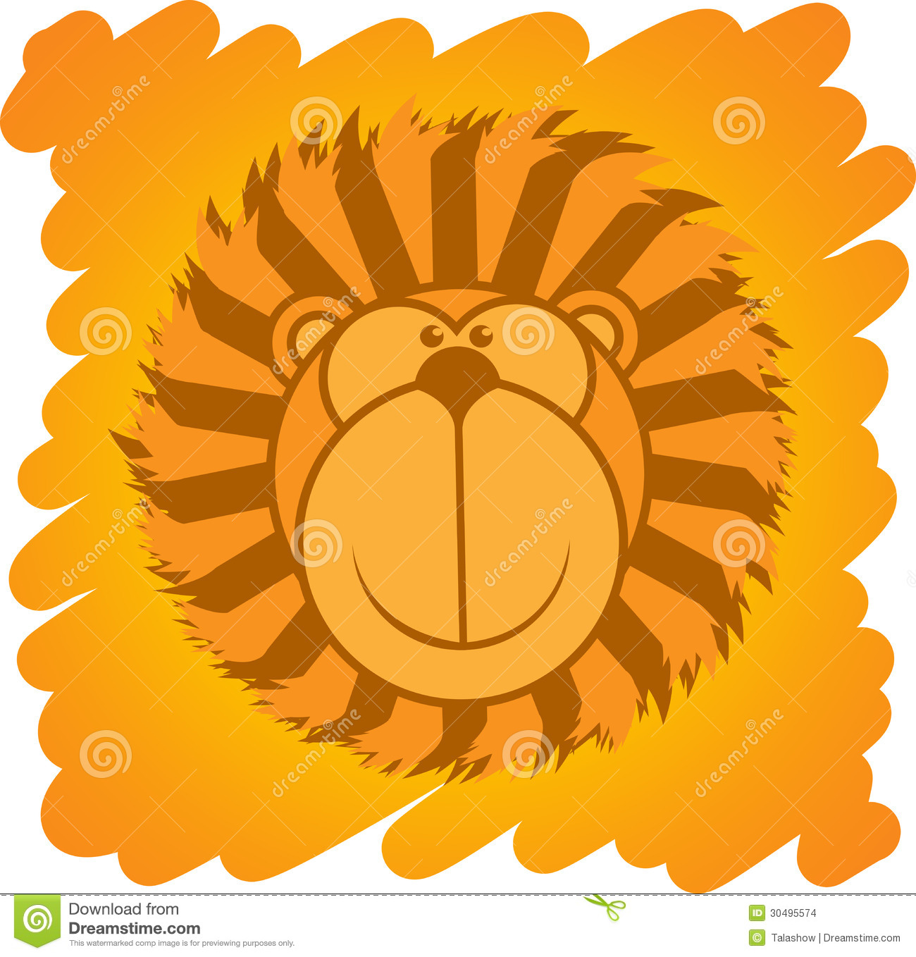 Cartoon Lion Stock Images - Image: 30495574
