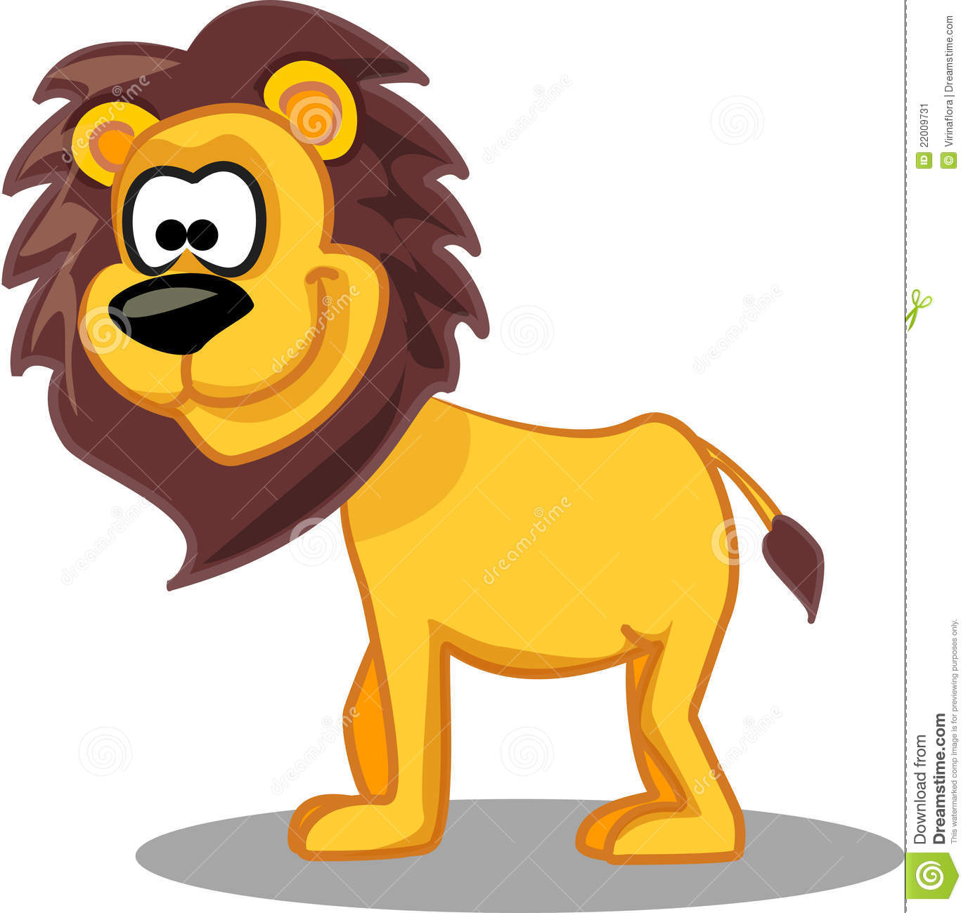 Cartoon lion, vector illustration picture for your design.