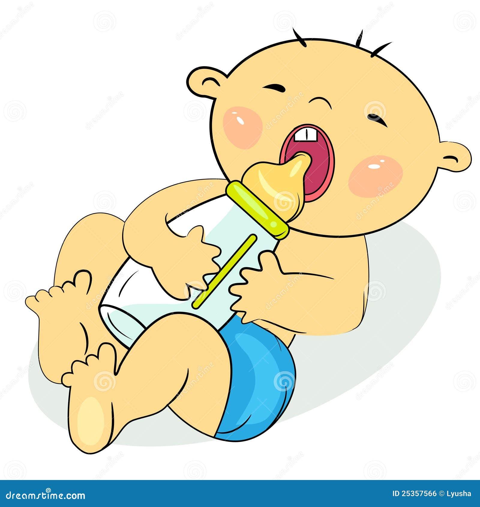 Babies Drink Milk Cartoons